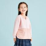 【2件3折后到手价:149.7元】马拉丁童装女童外套2019春装新款宽松拼接开叉洋气粉色儿童外套女