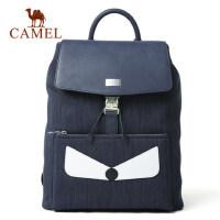 Camel/骆驼男包男士双肩包休闲翻盖背包男小怪兽时尚潮流学生书包