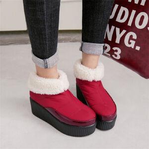 O'SHELL欧希尔新品106-1199欧美太空革松糕底女士雪地靴