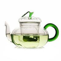 楼龙 透明玻璃壶套装 南瓜壶 花茶壶 750ml CF-113