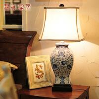 中式台灯现代古典家居欧式创意卧室床头陶瓷手绘装饰台灯大号