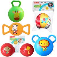 【当当自营】费雪(Fisher Price)儿童玩具球(认知球6片+摇铃球绿色+哑铃球红色+糖果球黄色+拉拉球蓝色)