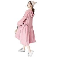 时尚宽松减龄连衣裙中长款裙子孕妇装秋冬款洋气孕妇装套装