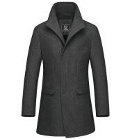 反季 风衣男冬季韩版修身休闲男士大衣中长款潮流羊毛呢外套