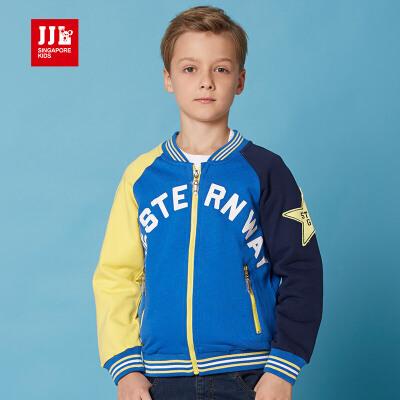 jjlkids季季乐童装男童春秋季外套大童棒球服时尚棉外套BCW61031专柜同款