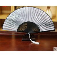 日式折扇中国风女式扇子真丝绢扇樱花和风工艺古风小扇3把送1把  可礼品卡支付