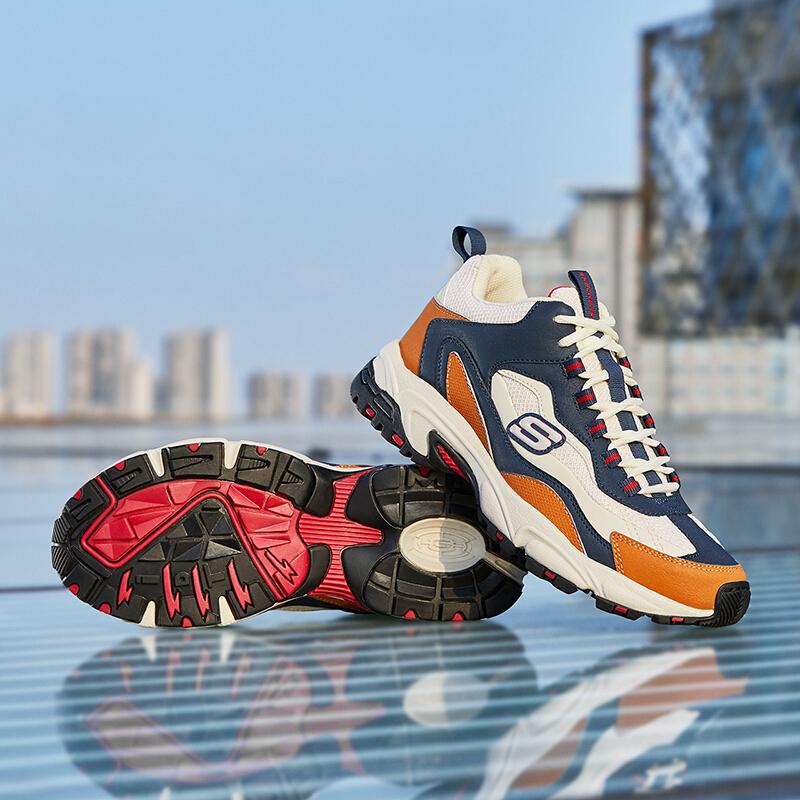 Skechers斯凯奇新款男鞋复古厚底老爹鞋户外休闲运动鞋 尺码偏大;请参照内长或询问客服