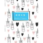 预订 2019 Weekly Planner: Schedule Organizer Unicorn Design C