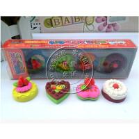 儿童礼物 创意文具批发 可爱韩版套装 蛋糕料理橡皮擦