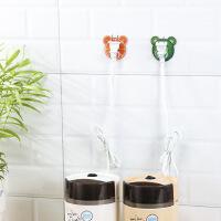 创意卡通水果免钉无痕强力粘胶门后挂钩厨房浴室墙壁挂架