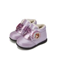 【119元任选2双】迪士尼Disney童鞋女童冬季加绒保暖靴子公主 K00010