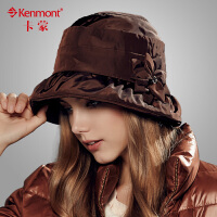 kenmont卡蒙 女盆帽渔夫帽复古大檐帽子女休闲盆帽 女帽2343