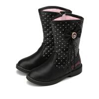【159元任选2双】迪士尼Disney童鞋女童冬季保暖靴子雪地鞋 K00032 FS0924 FS0926 FS093