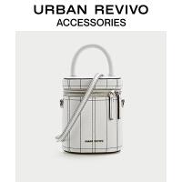 URBAN REVIVO2021春夏新品女士配件小巧拉链水桶包AA20TG2N2000