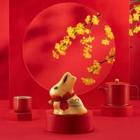 【新品】Lindt瑞士�小金兔形牛奶巧克力�Y盒200g 中秋�Y盒
