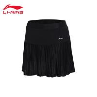 李宁裙裤女士省队比赛羽毛球系列速干女装凉爽针织短装运动裤ASKM094