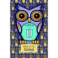 预订 Random Jottings Notebook: Adorable Owl Monograms: Initia