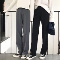 垂感坠感阔腿裤女春秋大码高腰拖地裤工装西装裤宽松休闲直筒长裤