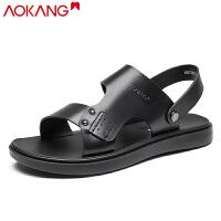 奥康男凉鞋夏季透气男士休闲凉鞋两用凉拖鞋沙滩鞋