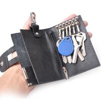 yvonge韵歌男士时尚钥匙包新款精品鸵鸟纹牛皮钥匙夹钥匙包真皮匙包软皮车匙包