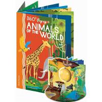英文原版 Animals Of The World 动物世界 360度剧场立体书 礼品书 儿童STEAM科普操作书 S