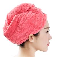 [当当自营]三利 高梳纱超柔软不掉毛干发巾 西瓜红 强吸水加厚加大浴帽