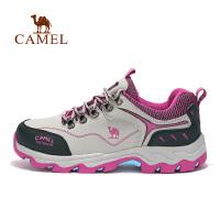 【满259减200元】camel骆驼户外女款徒步鞋 防滑低帮系带女款徒步鞋
