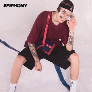Epiphqny重生防水休闲潮流单肩包男士户外简约迷你多功能斜跨小包