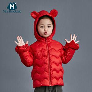 【尾品价:105】迷你巴拉巴拉女童科技棉衣2018冬款新品儿童喇叭袖外套宝宝棉服