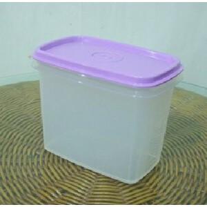 特百惠叠叠高800ml保鲜盒储藏桶零食盒 紫色