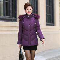 中老年棉衣女装短款羽绒大码妈妈装冬季加厚棉袄脱卸毛领外套 4
