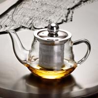 耐热透明玻璃小茶壶过滤泡茶器冲茶器泡茶壶茶杯红茶茶具家用套装