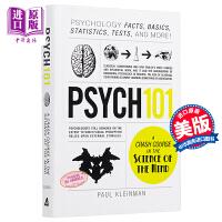 【中商原版】101系列:心理学 英文原版 Psych 101 Paul Kleinman Adams Media Co