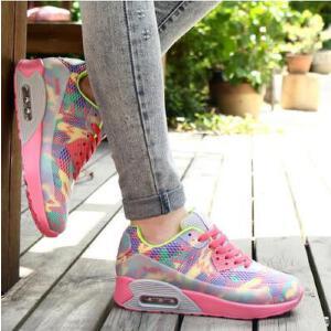【货到付款】领舞者春秋季情侣运动鞋跑步鞋韩版潮女鞋慢跑鞋气垫鞋