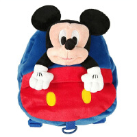 当当自营富乐梦 Disney迪士尼 幼儿园书包 米奇防走失绒毛包 蓝色 CC-M1017
