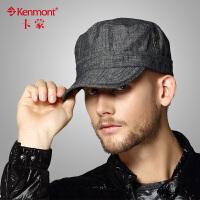 kenmont帽子男士冬天韩版潮 户外帽子平顶帽 军帽2263