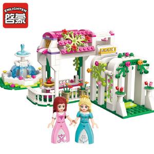 启蒙积木玩具5女童拼插公主城堡积木拼装玩具益智6-7-8-10岁女孩玫瑰梦幻回廊2602