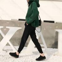 裤子女冬2017新款加绒裤女运动裤宽松休闲哈伦裤学生保暖小脚卫裤