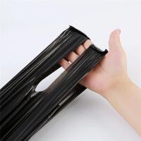 Jicen/洁成黑色卷装垃圾袋手提背心式家用加厚一次性中号塑料袋