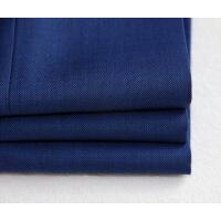 衬衫男学生TH出口日单春夏男士修身西裤薄款羊毛定型吸汗内里宝蓝色长裤