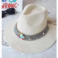 复古民族风 遮阳帽 宽檐针织爵士帽出游时尚帽子女士帽大檐 支持礼品卡