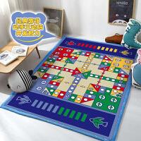 圆形方形防滑加厚收纳毯飞行棋全棉地毯毛绒爬行垫 游戏毯榻榻米垫玩具