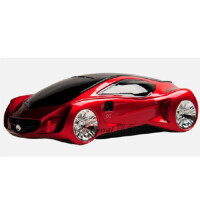 路奈 奔驰A3概念车 流动固定测速一体机 雷达 电子狗预警仪红色