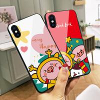 新年创意小猪苹果7plus手机壳iphone8红色保护套x玻璃6s本命年8p情侣xs max卡通7少女心xr网红同款6