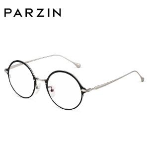 帕森光学镜架男女 圆框复古近视眼镜金属大框眼镜框 15731