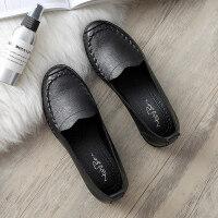 春秋款妈妈鞋软底舒适单鞋中老年人女鞋奶奶防滑平底中年老人皮鞋