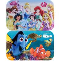 【当当自营】迪士尼拼图玩具 60片铁盒木质拼图二合一(公主2261+海底总动员2393)