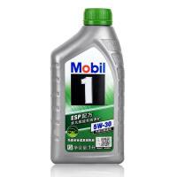 美孚(Mobil)美孚1号 全合成汽车机油 发动机润滑油 SN级 整箱装 美孚ESP 5W-30 1L*12