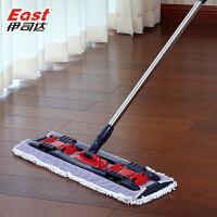 拖把木地板夹毛巾墩布旋转托平板拖把家用免手洗夹固式地拖