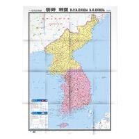 世界热点国家地图・朝鲜 韩国(1:1090000)